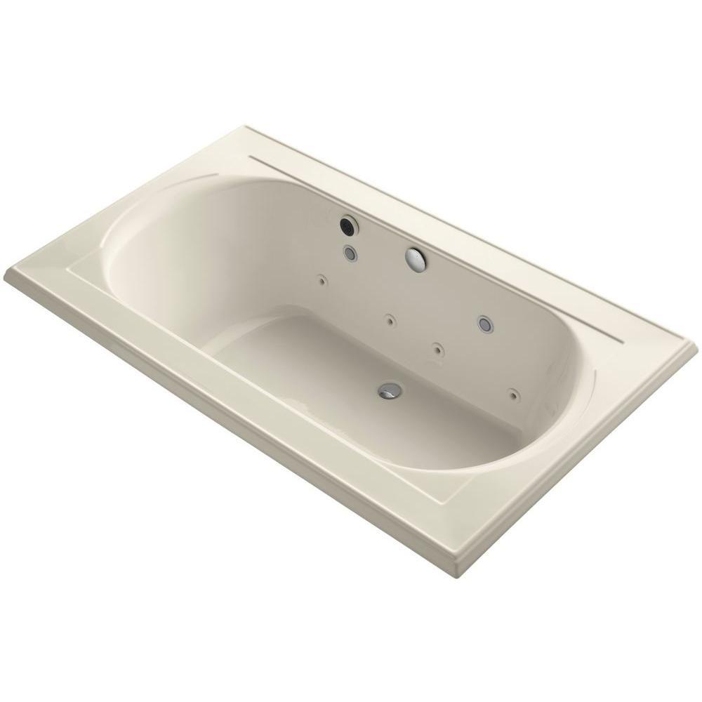 KOHLER Memoirs 6 ft. Walk-In Whirlpool and Air Bath Tub in Almond ...