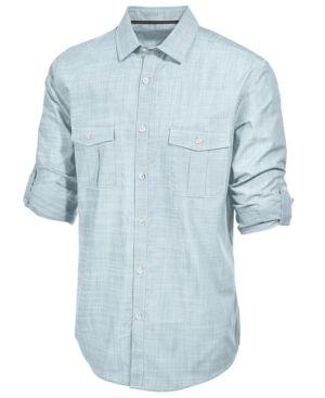 b2527a50bf8 Alfani Men s Long Sleeve Warren Shirt