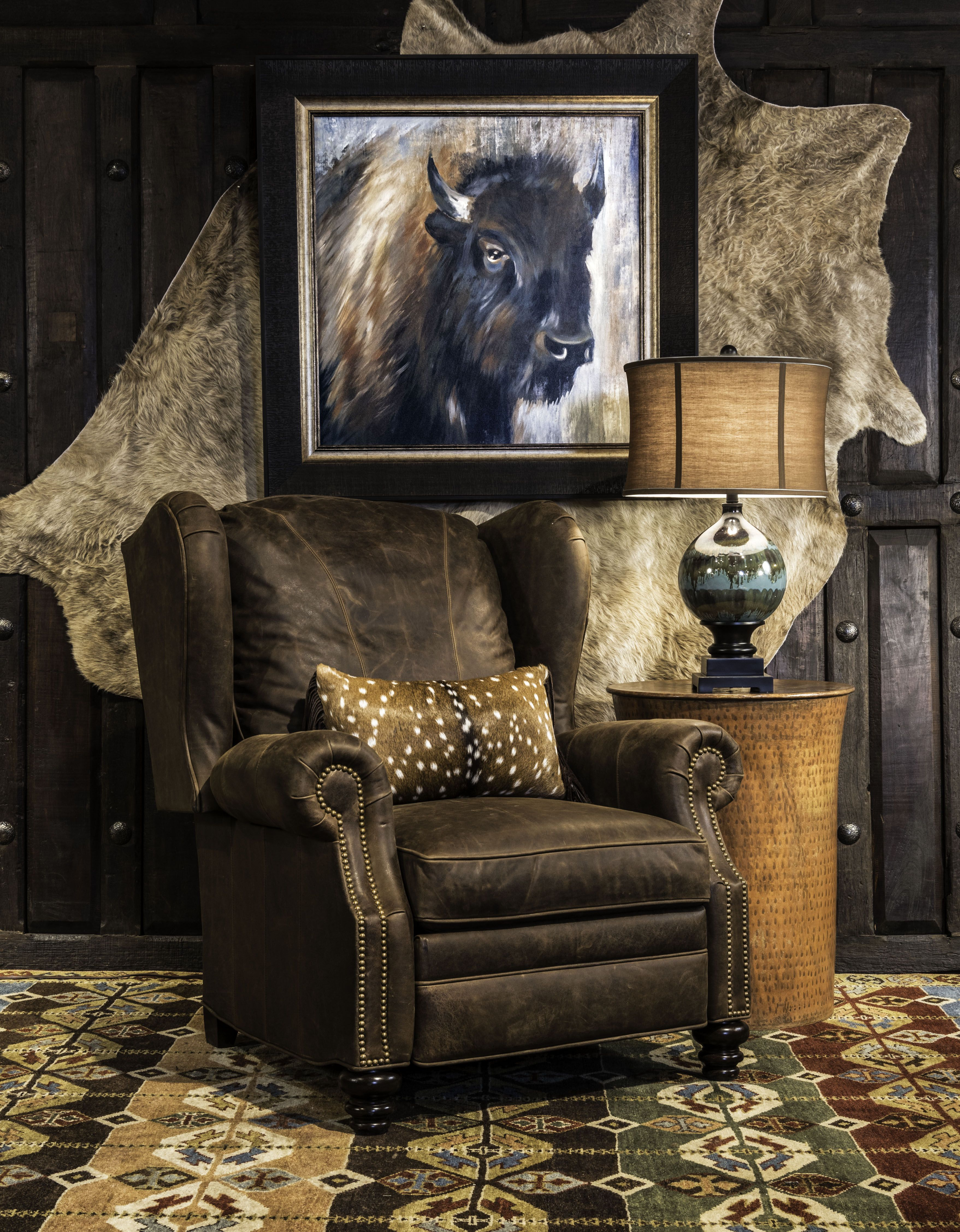 Cowboy Recliner Comfortable Living Room Furniture Western Furniture House Decor Rustic