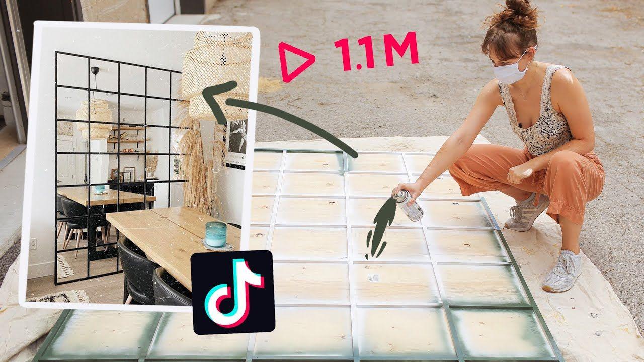 Making That Diy Mirror We All Saw On Tiktok Youtube Diy Mirror Ikea Mirror Hack Diy Ikea Hacks