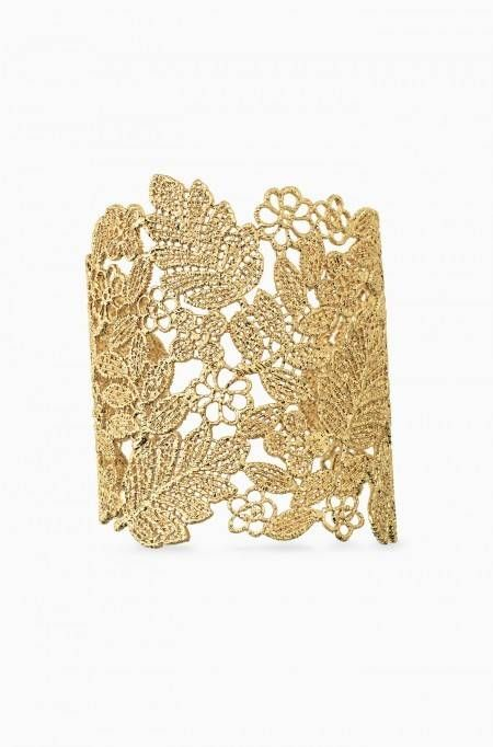Style with a dramatic vintage inspired lace gold large cuff bracelet from Stella & Dot. Find fashion bracelets, bangles, cuffs, wrap bracelets & more.