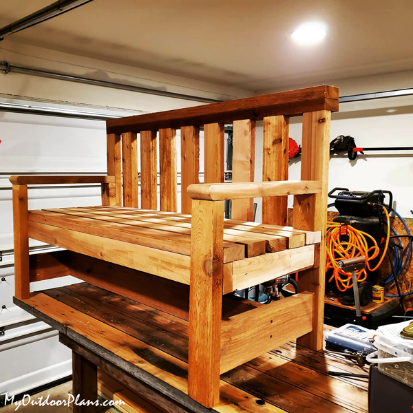 Diy 2 4 Rough Cedar Bench In 2020 Free Woodworking Plans Furniture Woodworking Furniture Plans Loft Bed Plans