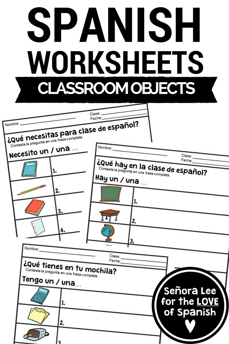 Spanish Classroom Objects Worksheets Spanish Grammar Indefinite Articles Middle School Spanish Lessons Spanish Students Spanish Classroom [ 1102 x 735 Pixel ]
