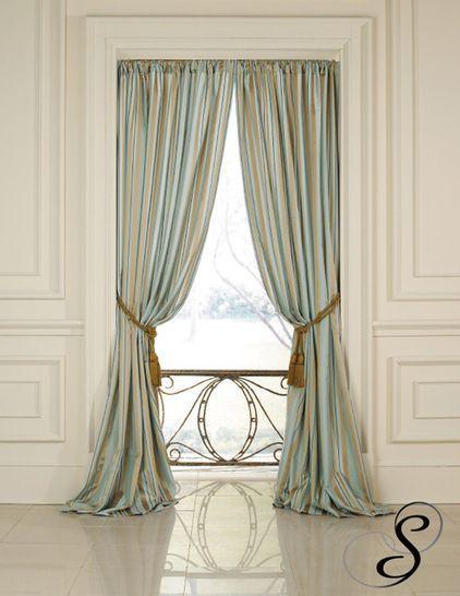Elegant Satin Drapes Mounted Inside Window Frame With Hidden