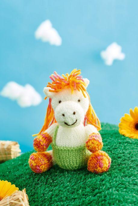 Harriet Horse Free Knitting Patterns 4 Ply Yarn Knitting