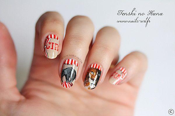 circus nails nail art inspiration