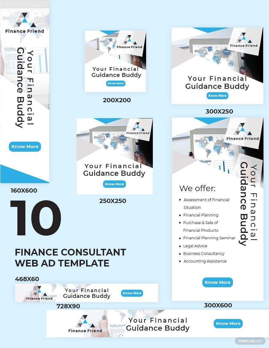 Finance Consultant Web Ads Template in 2020 Web ads