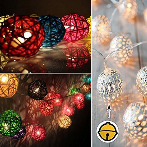 eligrow multi color rattan halogen bulb 25m 110v fairy string lights christmas wedding and