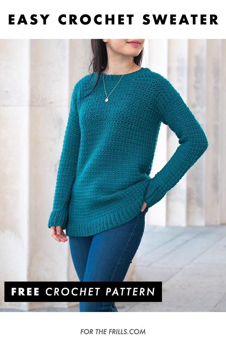 Photo of Easy Crochet Pullover – free sweater pattern + video tutorial