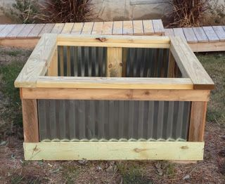 DIY Raised Garden Bed using corrugated metal Gardening Thyme