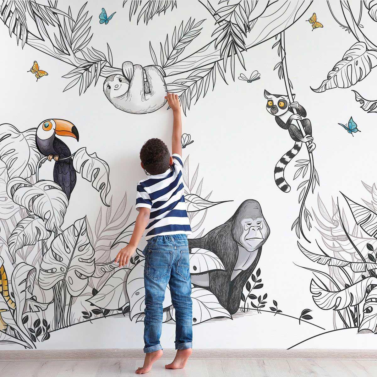 33++ Papier peint jungle chambre bebe ideas in 2021