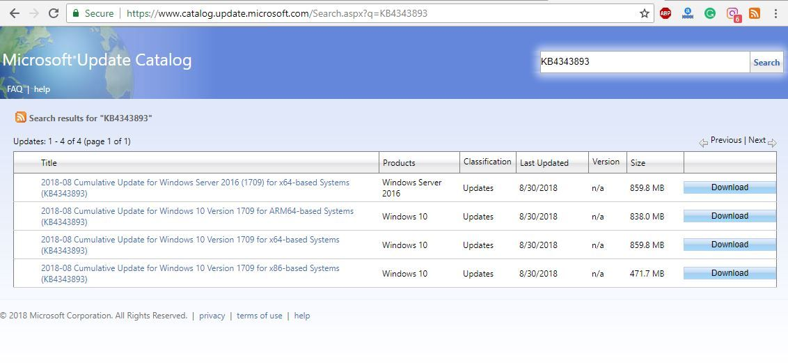 Windows 10 Build 16299.637 Version 1709 is now available