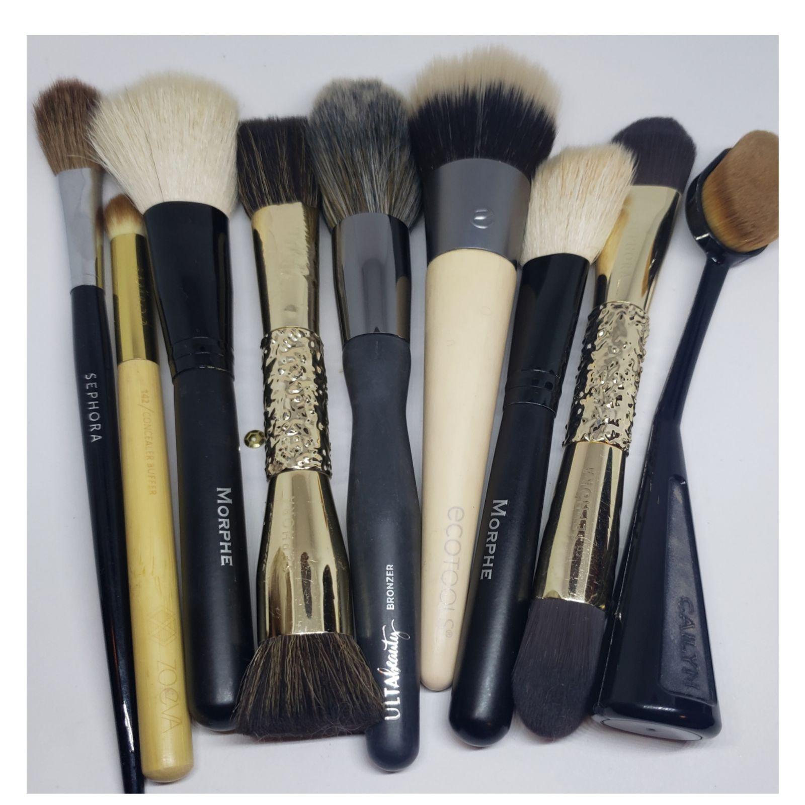 sephora gold dualend brushes not new but unused sephora