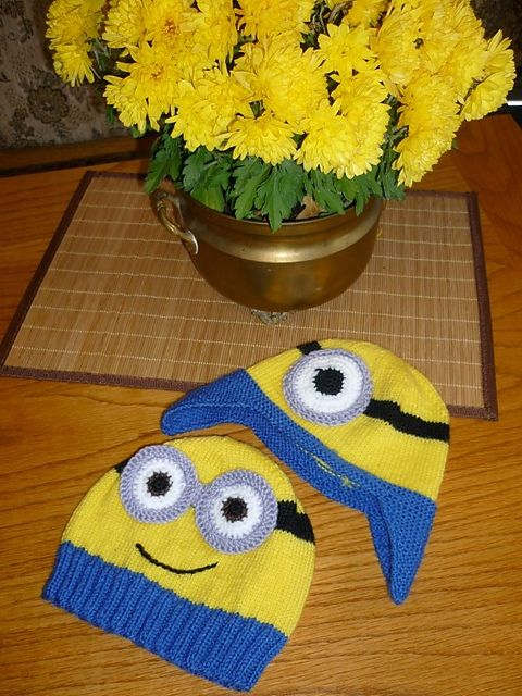 Minions Mütze Stricken Minions Pinterest Knitting Crochet