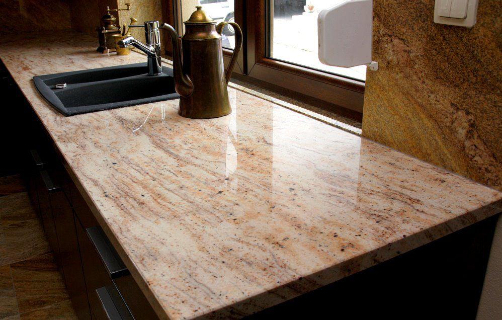 Ivory #Brown #Granit ist attraktiv, dauerhaft und perfekt für - küchenarbeitsplatten online bestellen