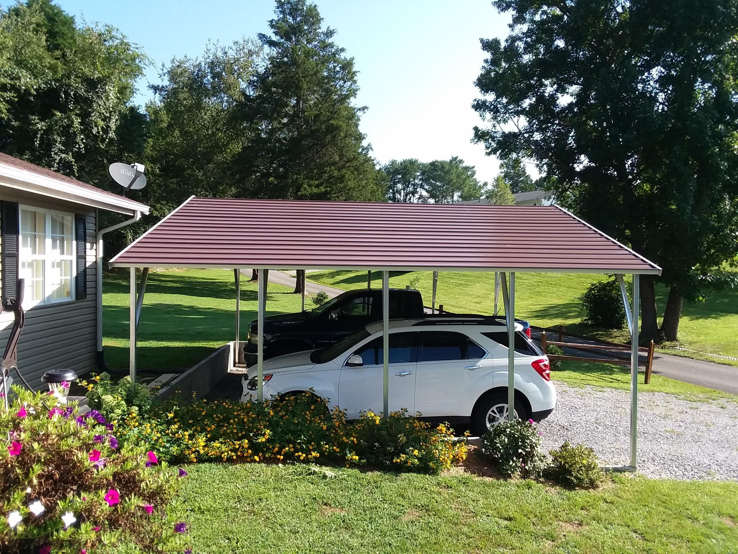 24x21 boxed eave style metal carport Alan's Factory
