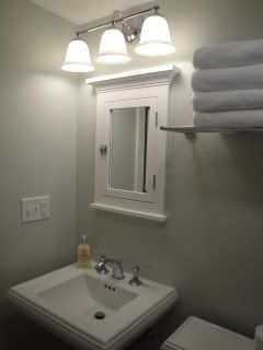 Bathroom Lights Mounted On Mirror above medicine cabinet lighting | lighting over surface mounted