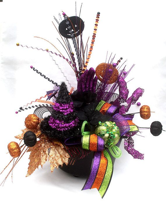 Halloween Arrangement halloween decor halloween party Halloweem - witch decorations