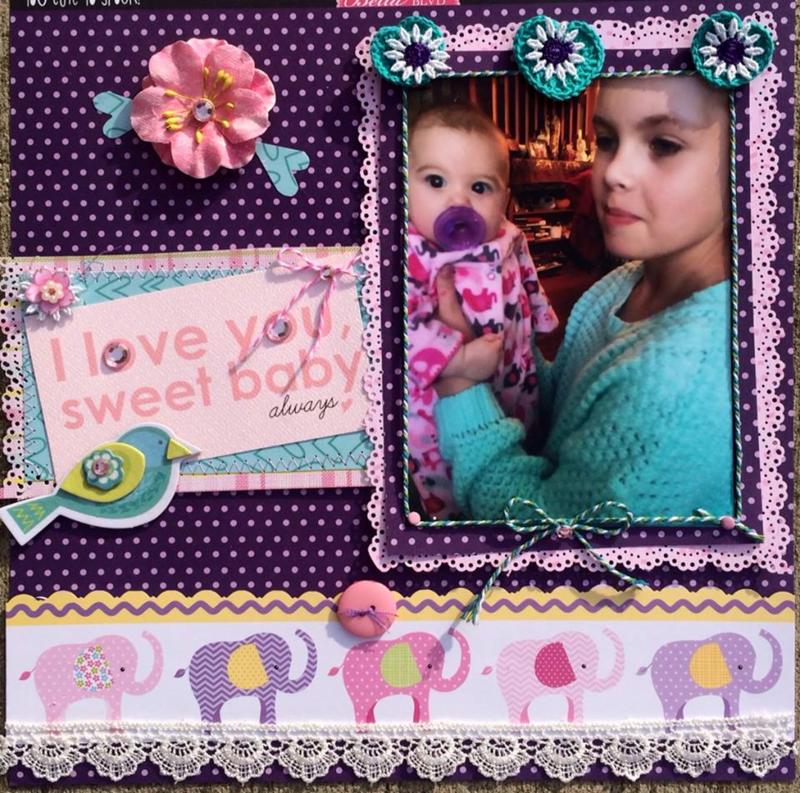 Sweet  Baby Girl and her Beautiful Cousin - Scrapbook.com