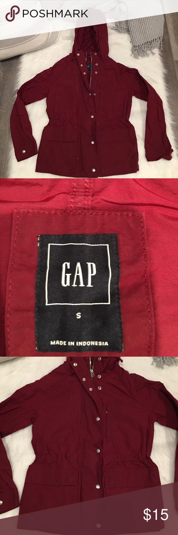 Gap Burgundy Utility Zip Up Hooded Jacket Coat Gap Women S Small Burgundy Utility Zip Up Button Hooded Jacket Coat Condi Hooded Jacket Jackets Coats Jackets [ 1740 x 580 Pixel ]