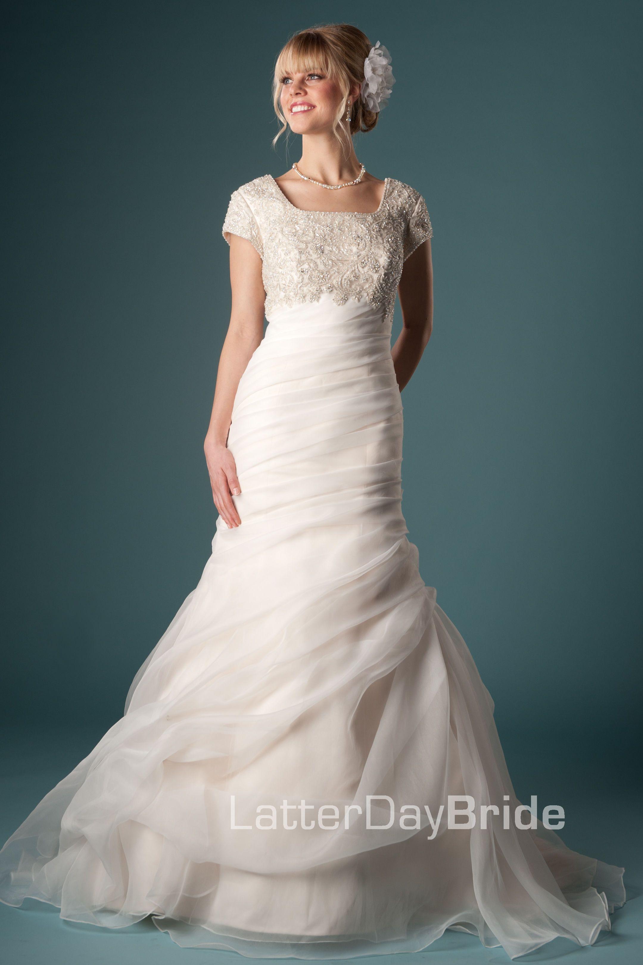 113b413773b4 Modest Wedding Dress, Fabiana   LatterDayBride & Prom   Wedding ...