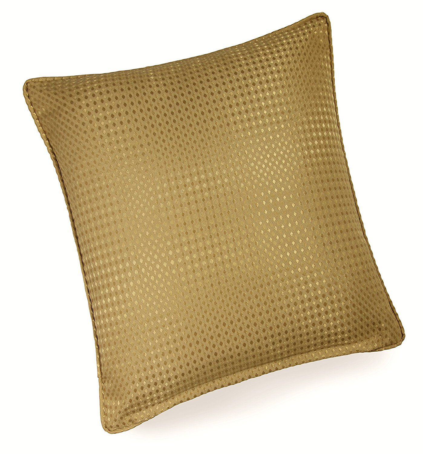 Impressions waffle gold piped in xcm cushion cover cushion