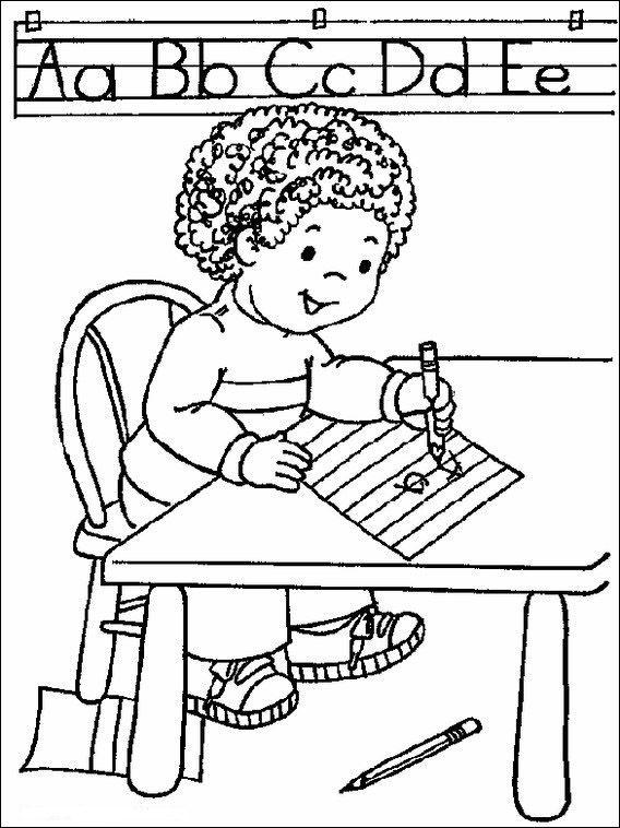 Dibujos para Colorear Escuela 9 | Dibujos para colorear para niños ...