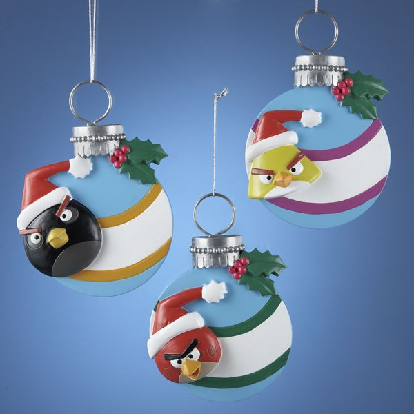# BD2126  #ANGRYBIRDS™ GLITTER CHARACTER BALL #ORNAMENT FOR #PERSONALIZATION #angrybirdsornaments
