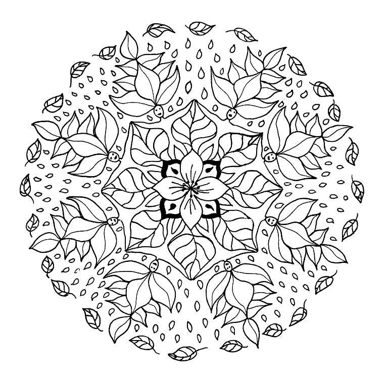 mandala con flores para colorear | MANDALAS | Pinterest | Colorear ...