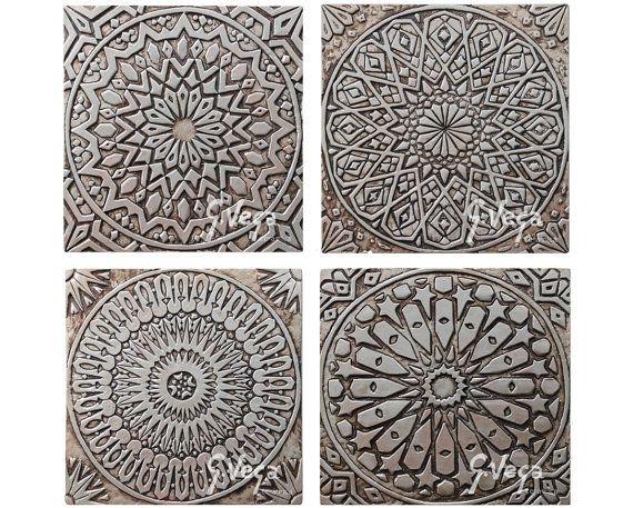 Outdoor Wall Art Ceramic Tiles For Garden Decor Silver Tiles Yard Art Outdoor Wall Decor Ceramic Wall Art Outdoor Wall Decor 30cm Hudozhestvennaya Plitka Keramika Proekty