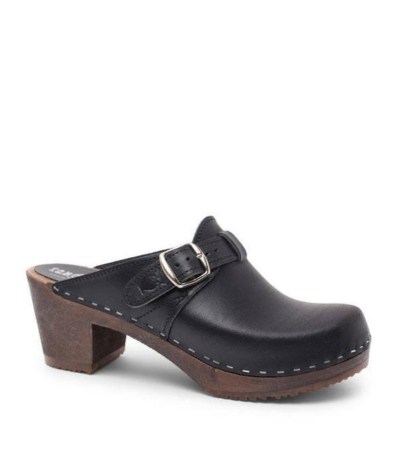 9b2c0d32982c Swedish Clogs For Women Handmade in Sweden Shoes Dark Wooden Base New  Collection Traditional Design