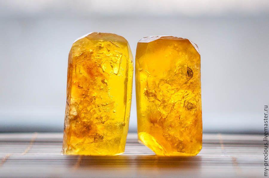 Купить Мыло «Янтарь» - желтый, оранжевый, Янтарный, янтарь, драгоценный камень, красивое мыло