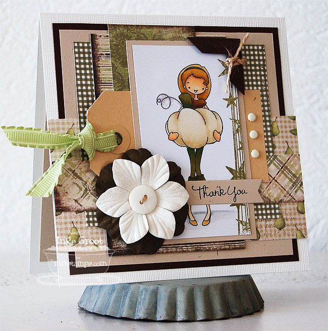 Patterned Paper - Papercrafts by Inge: á La Modes, Thank You and... Die-namics Storage!