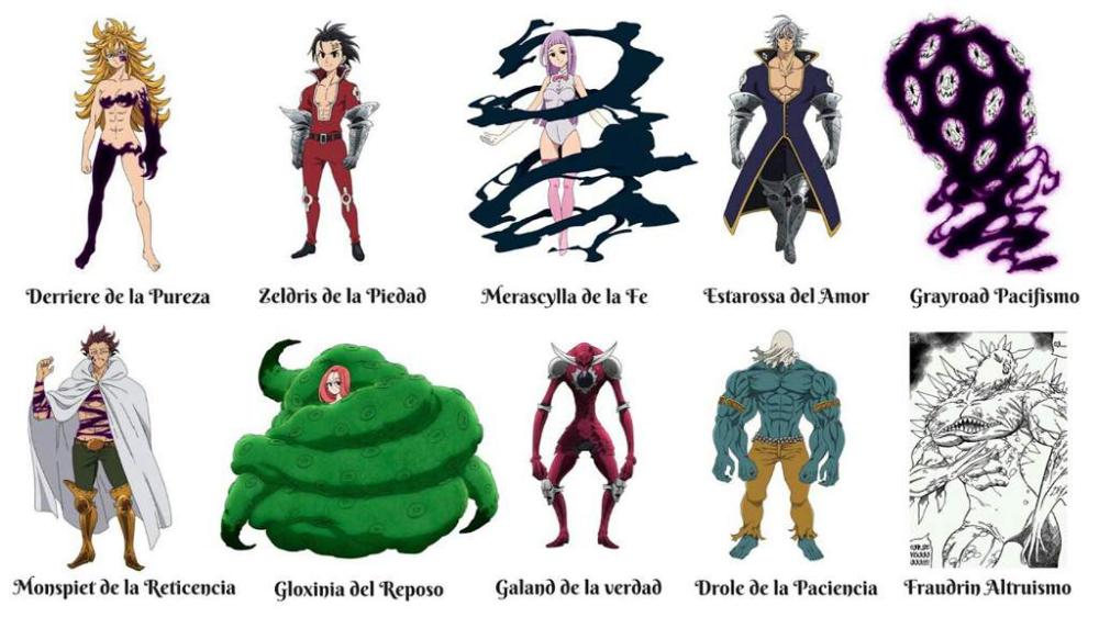 Los 10 Mandamientos Nanatsu No Taizai Nanatsu No Taizai Amino Amino Seven Deadly Sins Anime Seven Deady Sins Seven Deadly Sins