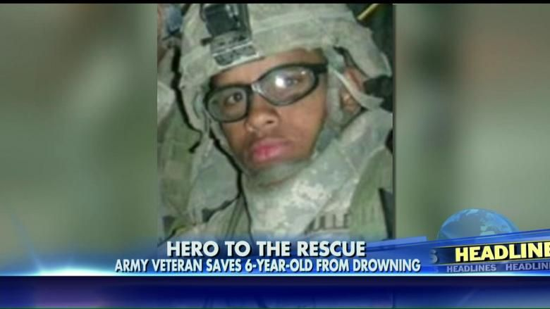 8/27/15 - A quick-thinking Army veteran saved a 6-year-old boy who nearly drowned in a Florida resort's pool.