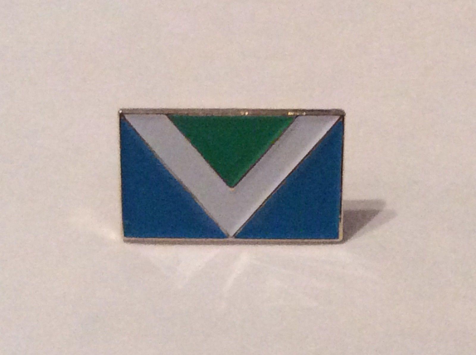 Vegan Metal Pin Badge Vegan Awareness Flag Symbol Animal Rights