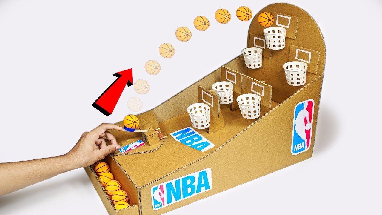 Como Hacer El Juego De Mesa Nba Basketball Slam Dunk De Cardboard