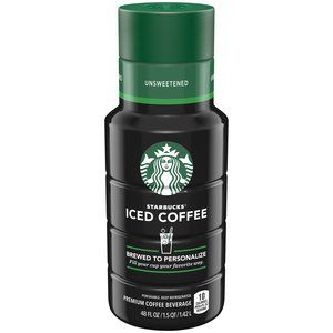 I designed this! Starbucks Unsweetened Iced Coffee, 48 fl oz