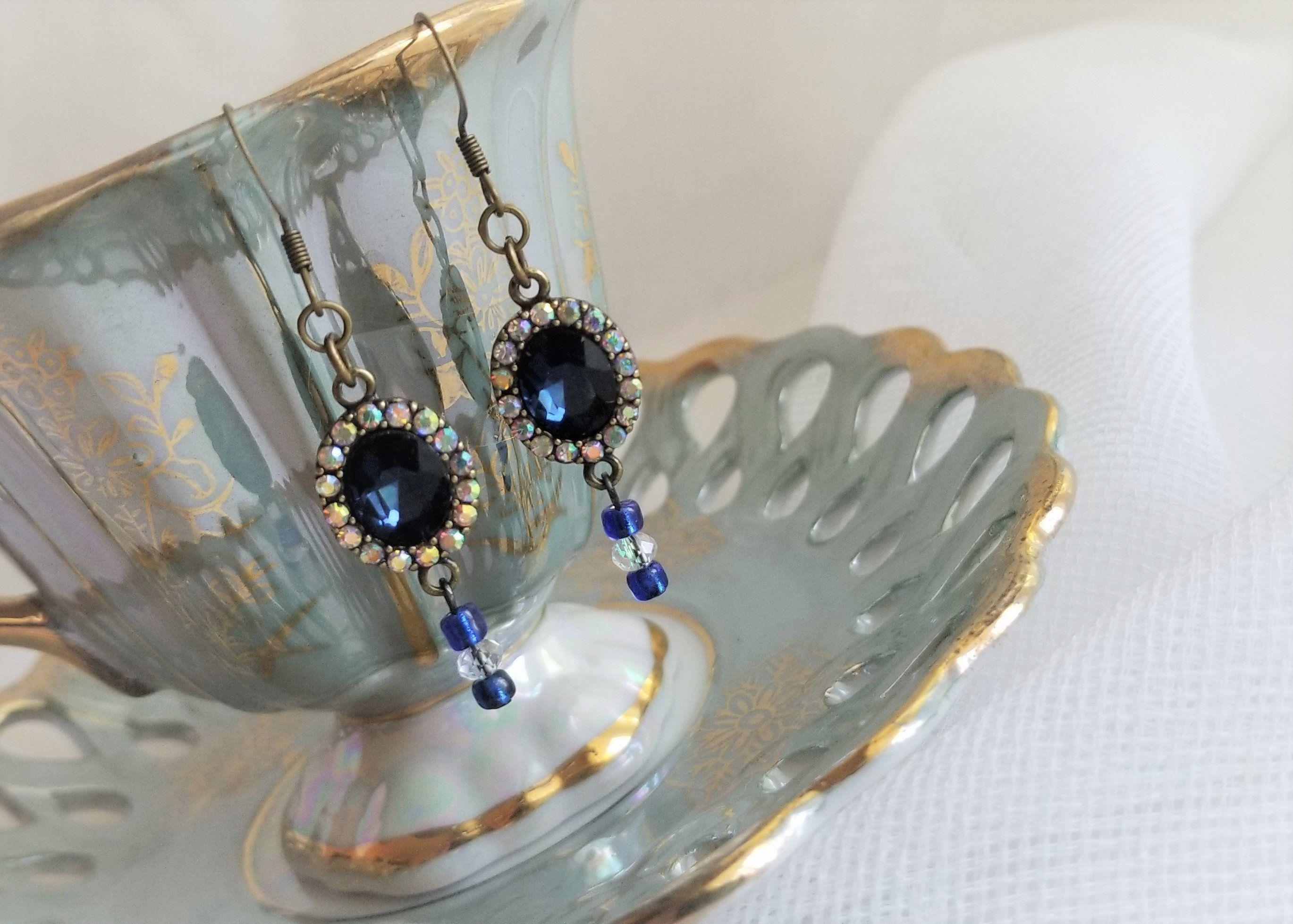 Victorian Titanic Inspired Dangle Earrings Dard Faux ...