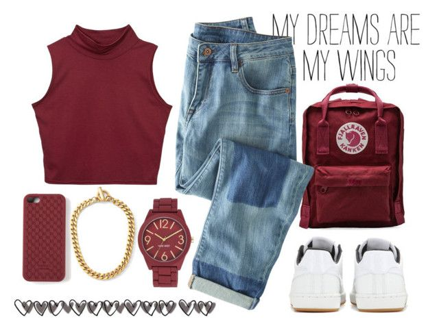 """""""Untitled #532"""" by ccbri ❤ liked on Polyvore featuring Fjällräven, Wrap, NIKE, Nine West, Gucci and C. Wonder"""