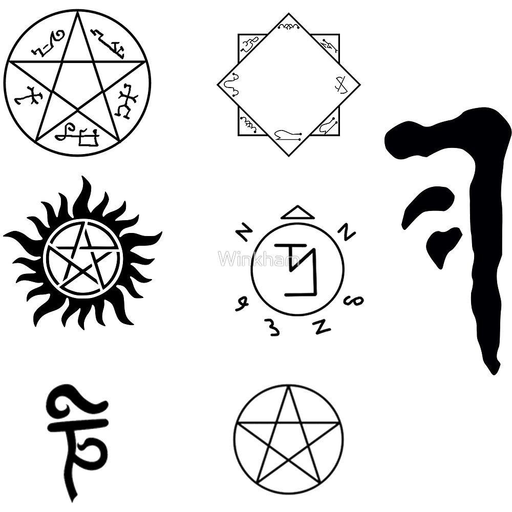 Images Of Supernatural Angel Warding Symbols Rock Cafe