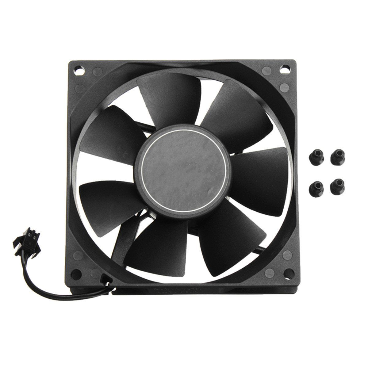 9cm 12v 2 5 Pin Computer Pc Cooling Fan Cpu Cooler Radiator Two