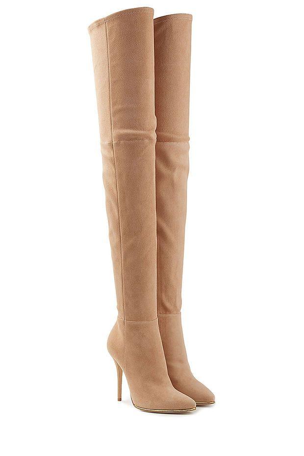 35ee4f65b15c8 Balmain - Suede Thigh-High Boots