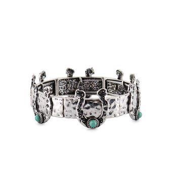 Shyanne® Women's Silver-Tone Horseshoe Bracelet