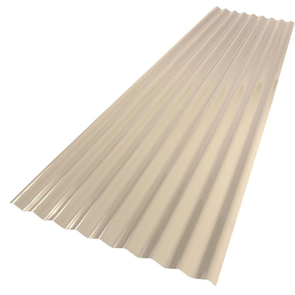 Palruf 26 In X 8 Ft Pvc Roofing Panel Tan 151981 The Home Depot Pvc Roofing Corrugated Roofing Roof Panels
