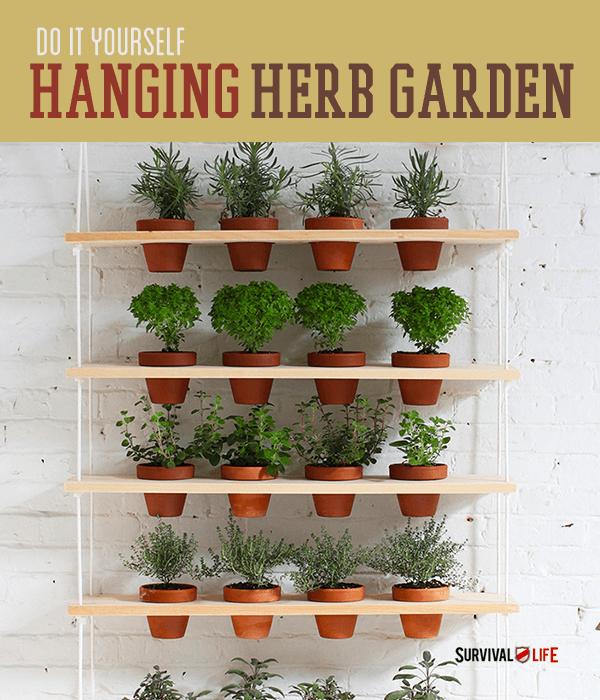 Perfect DIY Indoor Vertical Herb Garden