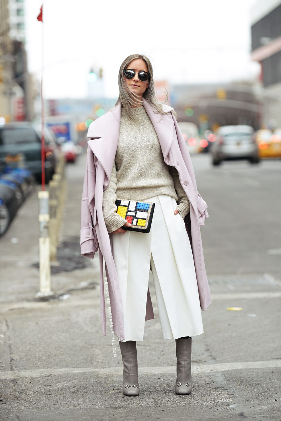 Really into that Lego Mondrian-style bag.