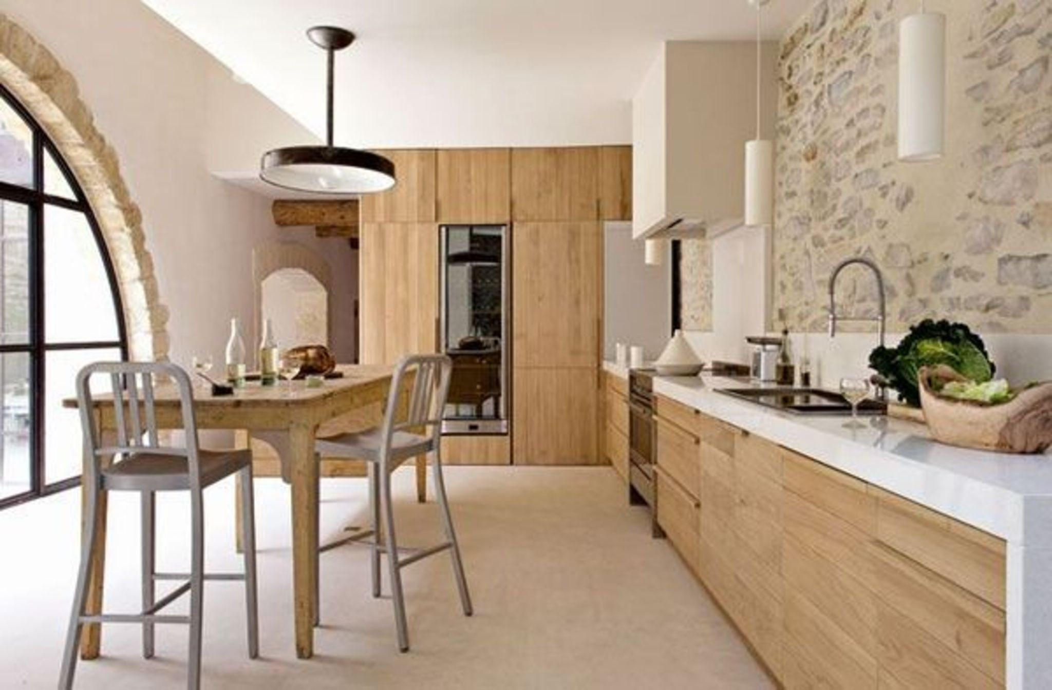 Emejing Cuisines Modernes Blanches Et Taupe Design Trends