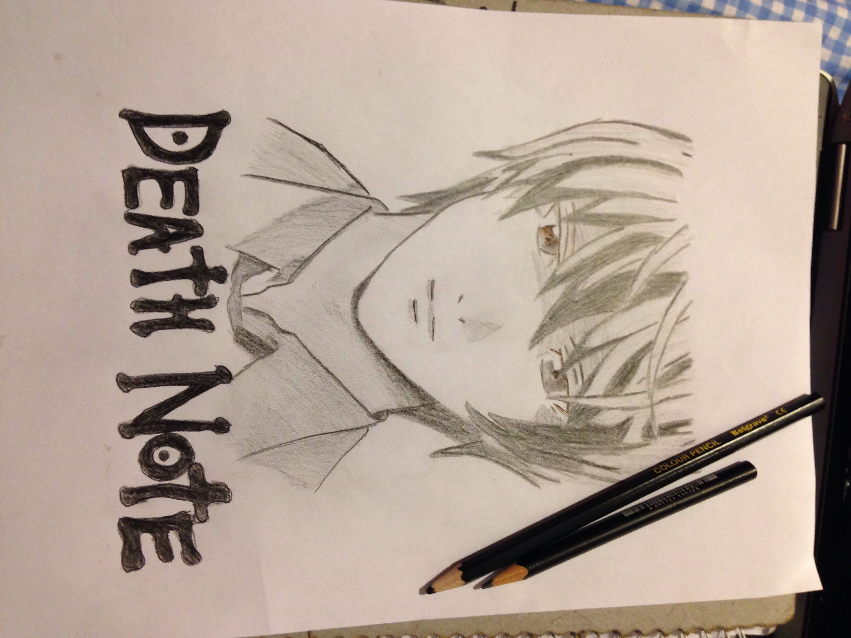 My drawing of Light from death Note..
