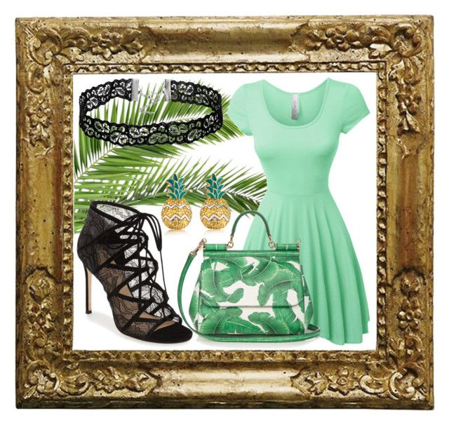 """Palm Springs Day Out"" by zoesherlockblog on Polyvore featuring LE3NO, Pour La Victoire, Dolce&Gabbana and MBLife.com"